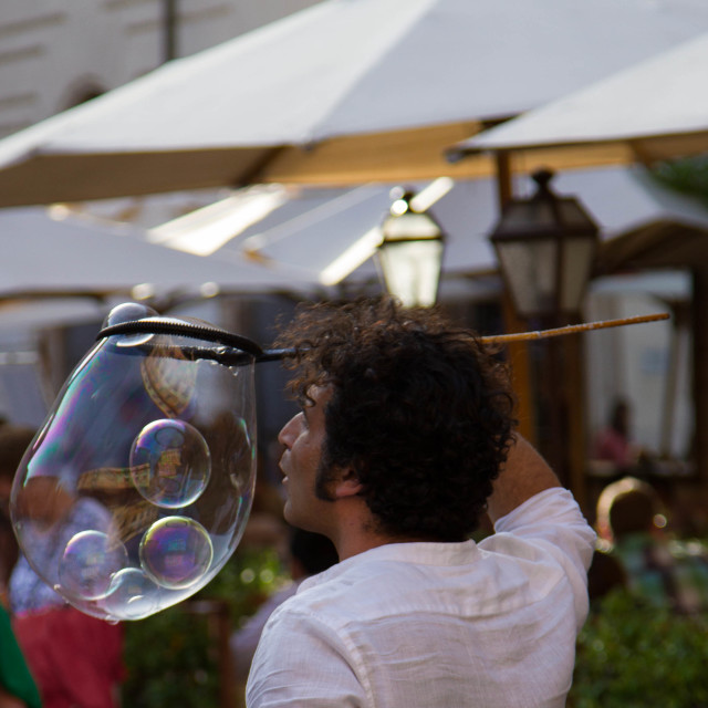 """""""Blowing Bubbles"""" stock image"""