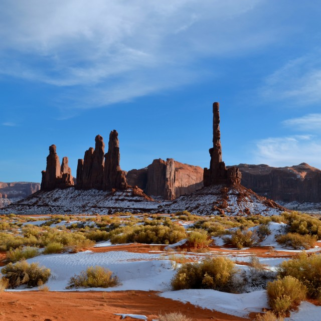 """Monument Valley in Winter"" stock image"