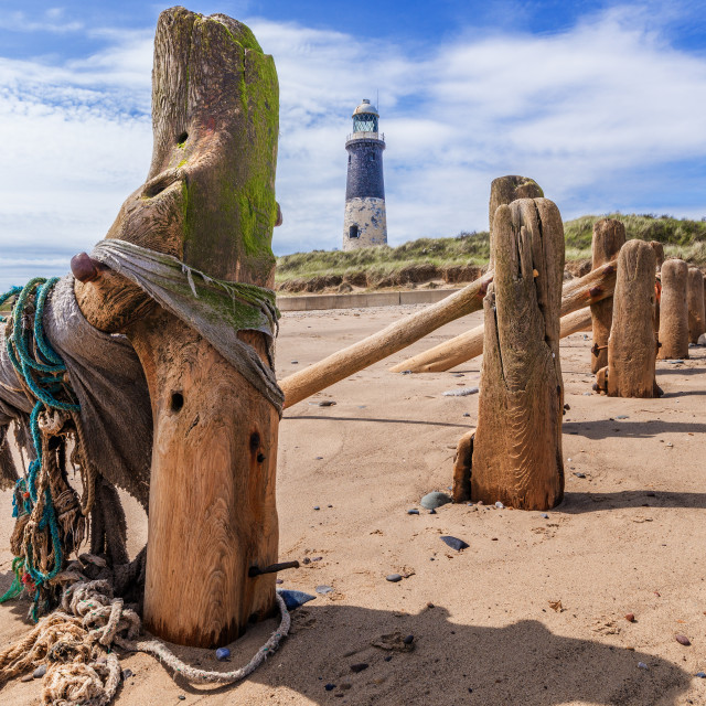 """Spurn Lighthouse"" stock image"