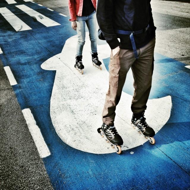"""Inline skates"" stock image"