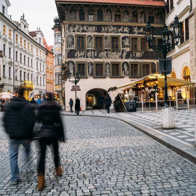 """""""Sightseeing in Prague"""" stock image"""