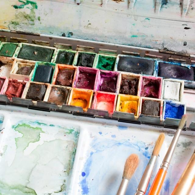 """Watercolor box"" stock image"