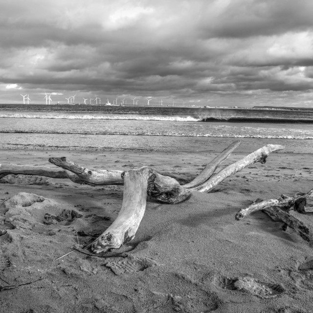 """Seaton Carew Beach"" stock image"