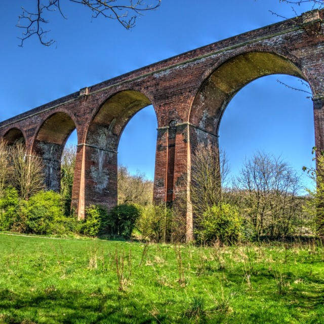 """Crimdon Viaduct"" stock image"