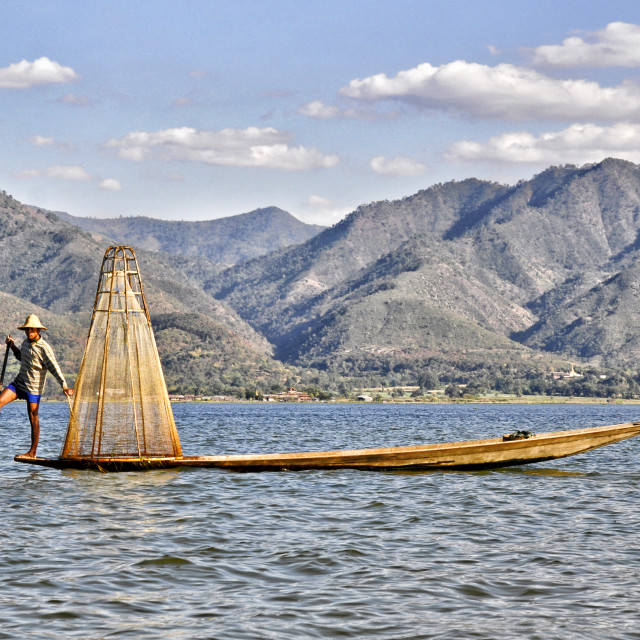 """INLE LAKE"" stock image"