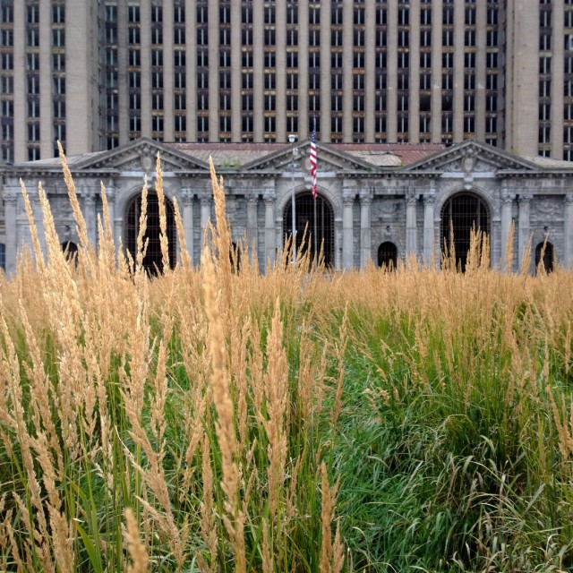 """Detroit Train Station"" stock image"