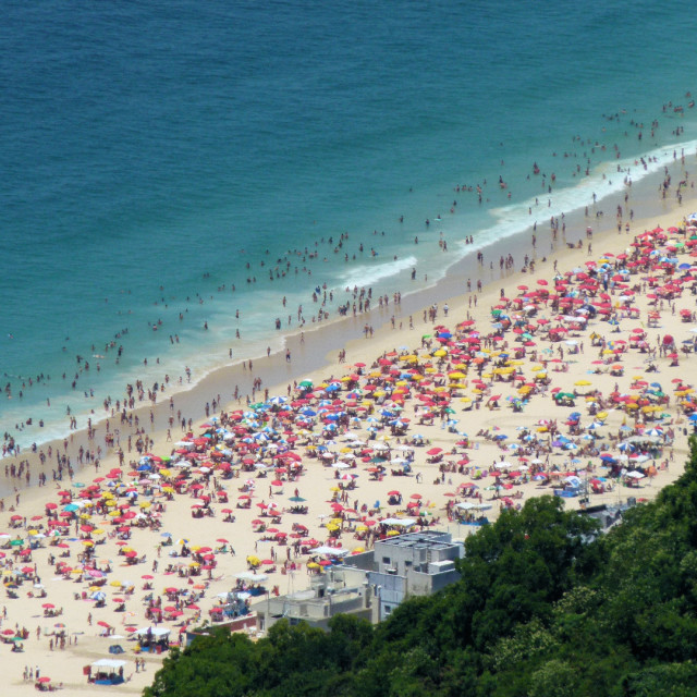 """Copacabana from above"" stock image"