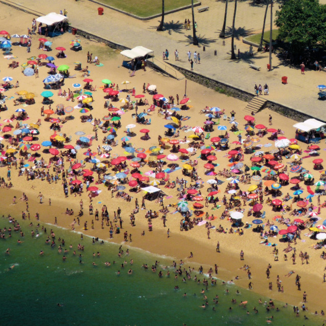 """Rio beach from above"" stock image"