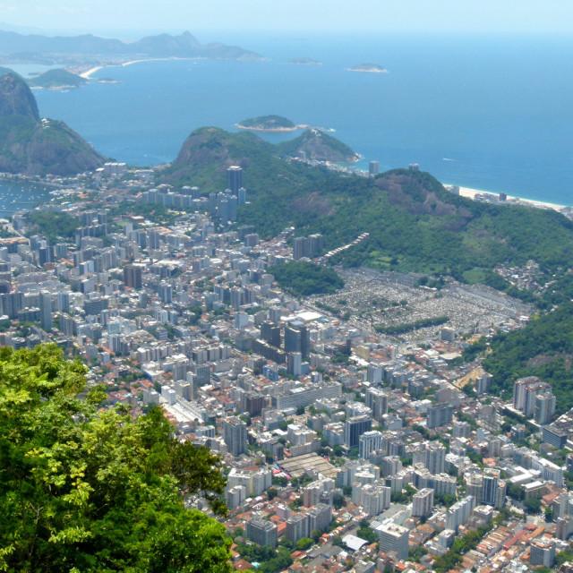 """View over Rio"" stock image"