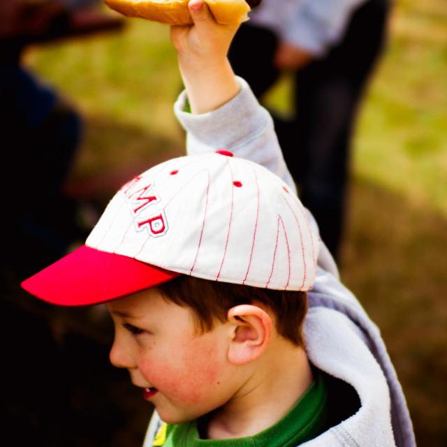 """Calvin's Hot Dog"" stock image"