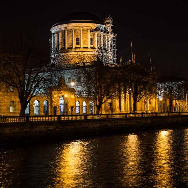 """""""The Four Courts, Dublin"""" stock image"""