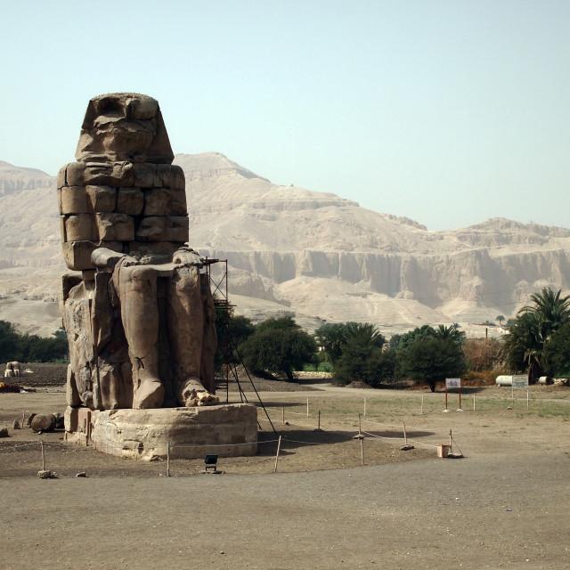 """""""Colossi of Memnon"""" stock image"""