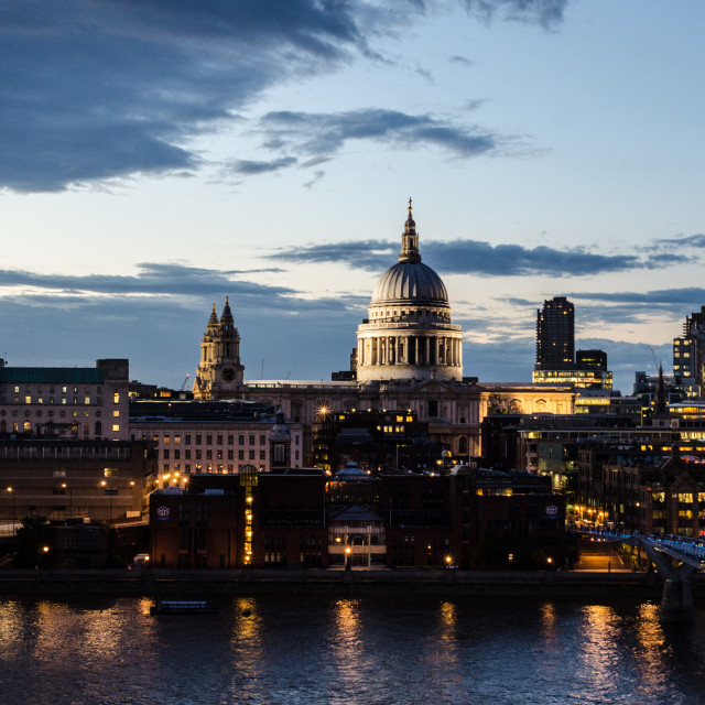 """St.Paul's Cathedral, London Southbank"" stock image"