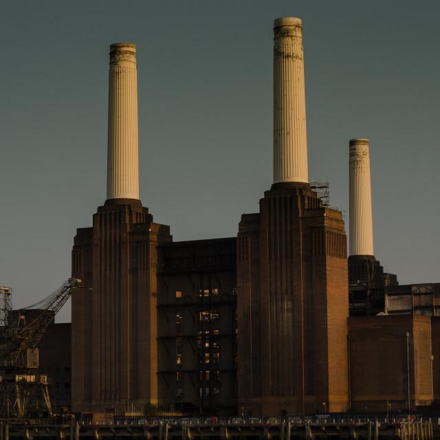"""Battersea Power Station, London"" stock image"