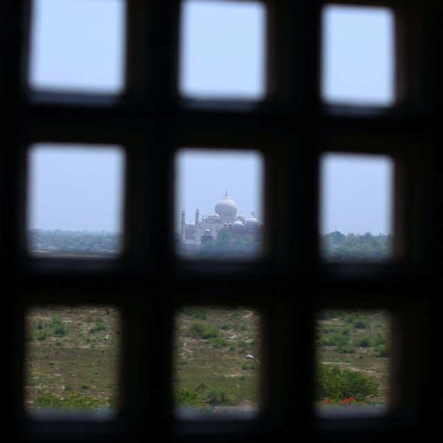 """A Prisoners view of the Taj Mahal"" stock image"