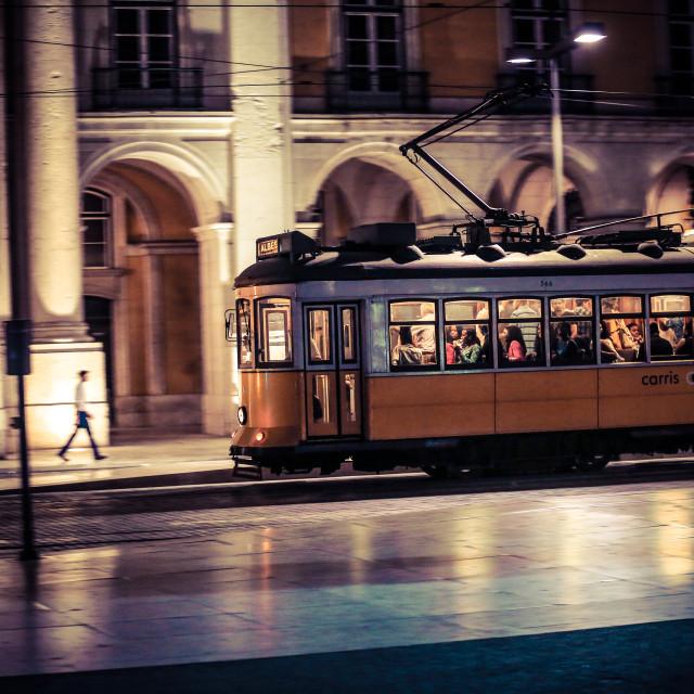 """Remodelado tram, Lisbon"" stock image"