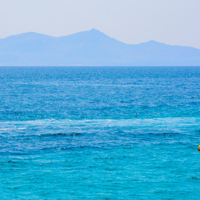 """Mediterranean blues"" stock image"