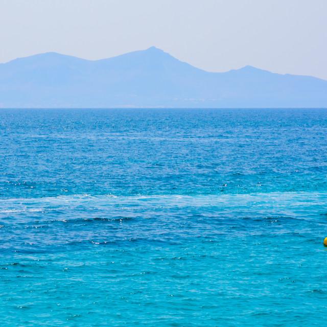 """Mediterranean blues"" stock image"