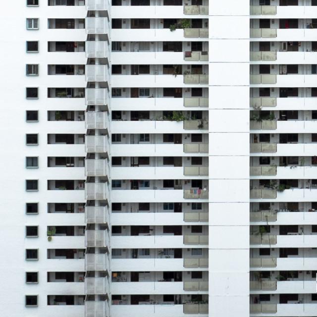 """Old apartment blocks"" stock image"