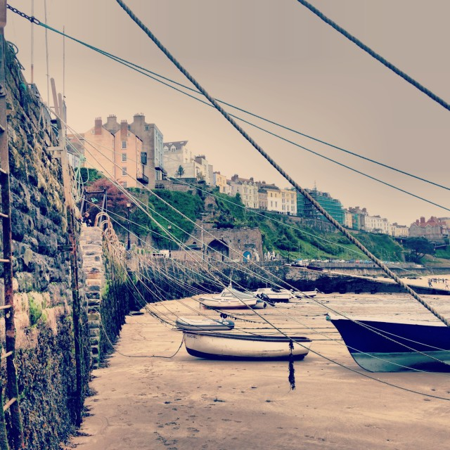 """Tenby Beach"" stock image"