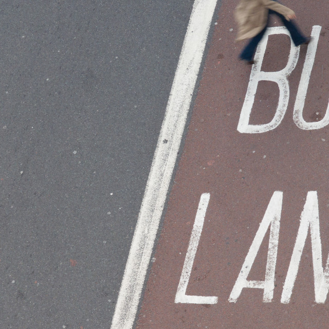 """Bus Lane, London"" stock image"