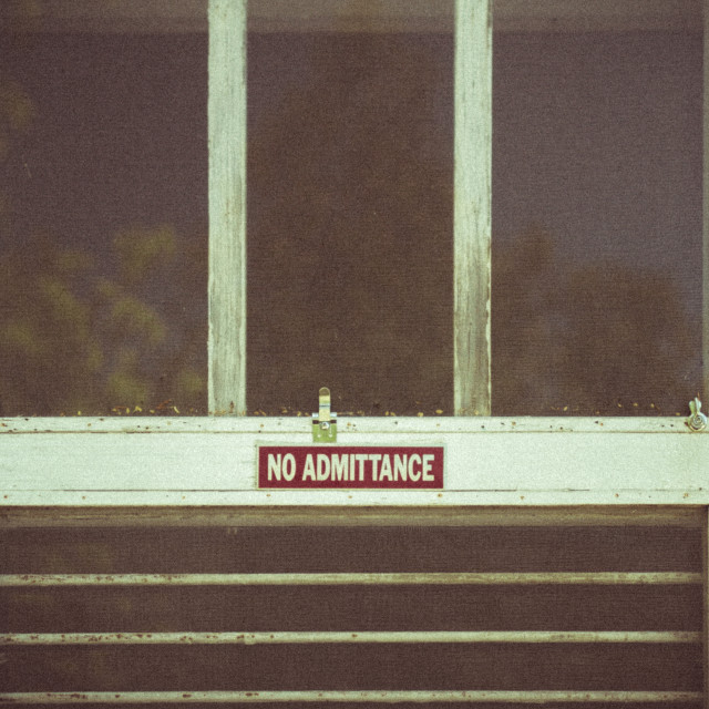 """No Admittance"" stock image"