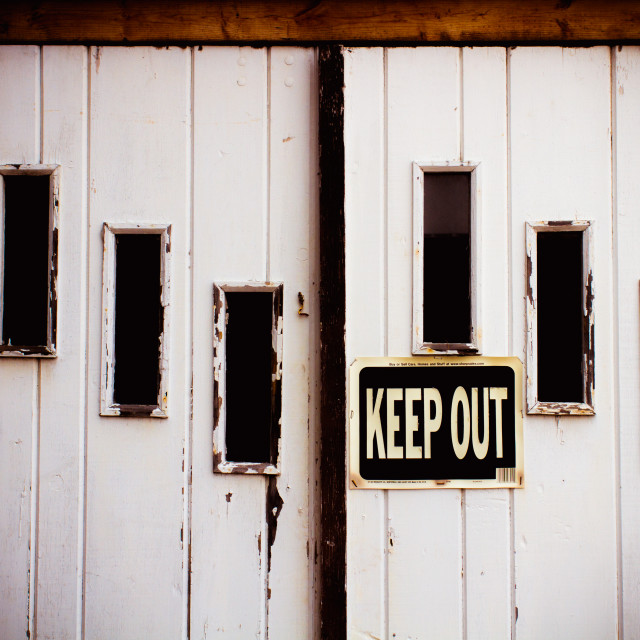 """Keep Out!"" stock image"