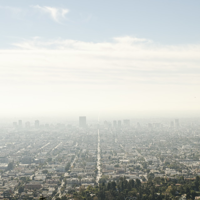 """Morning over Los Angeles"" stock image"