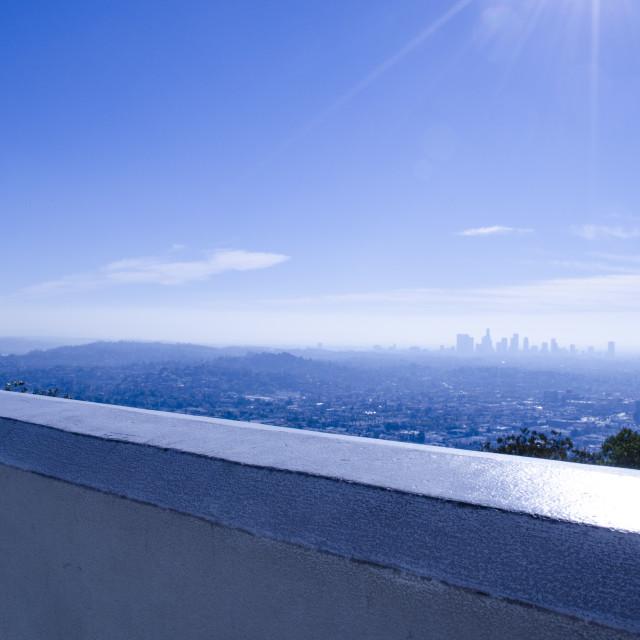 """Los Angeles Skyline"" stock image"