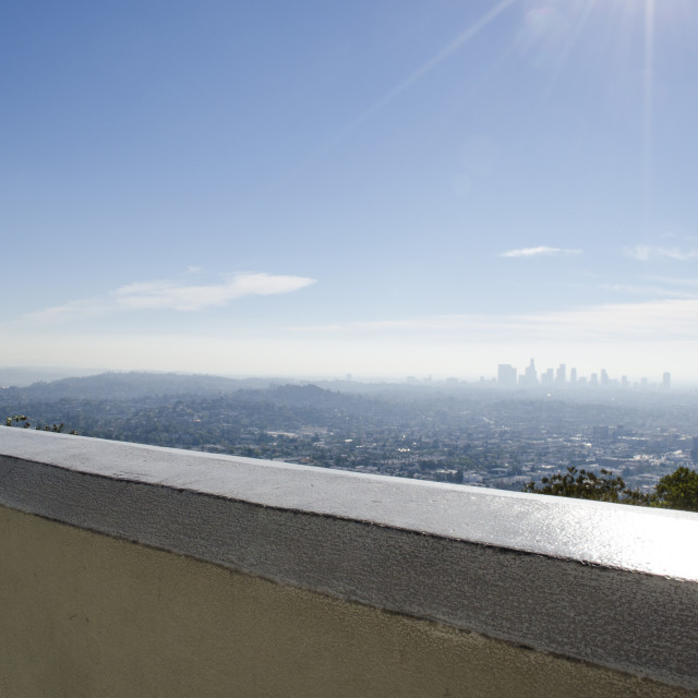 """Los Angeles Skyline2"" stock image"
