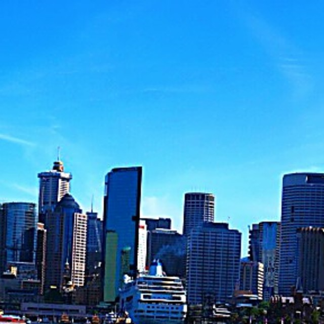 """Sydney Opera House, Harbour Bridge panoramic"" stock image"