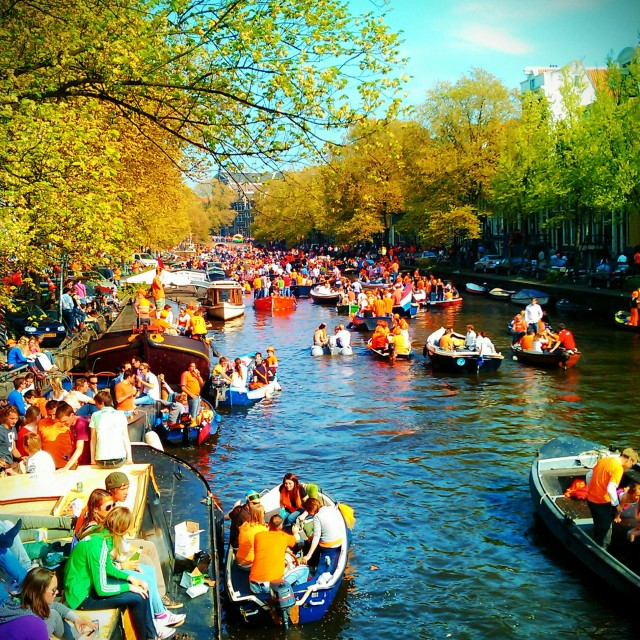 """Orange Day Amsterdam"" stock image"