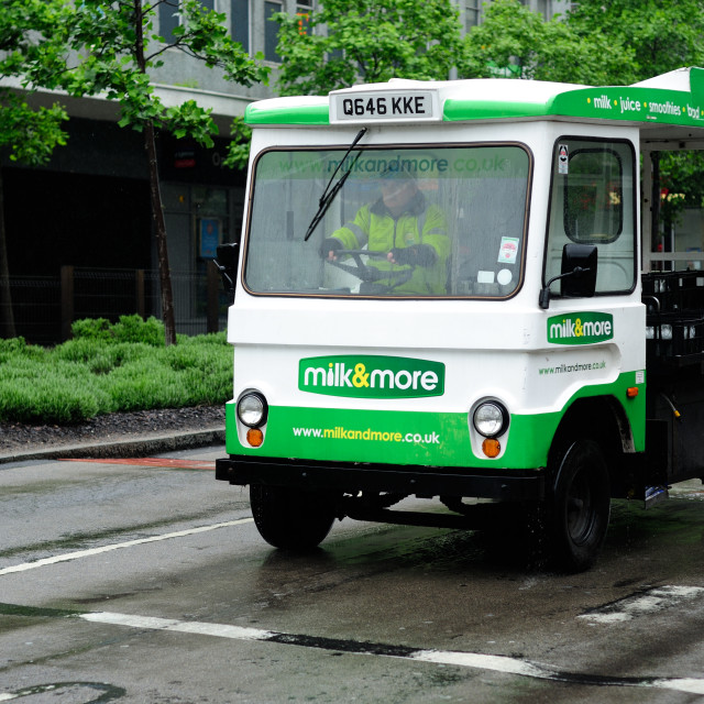 """Milk Float ."" stock image"