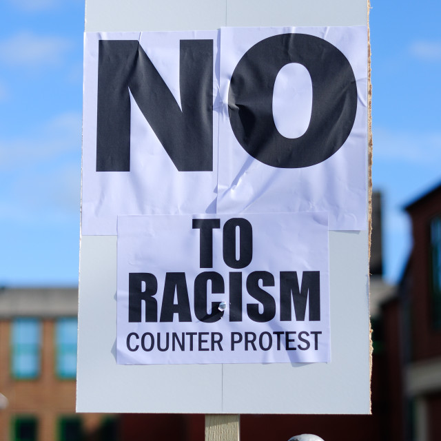 """No Racism ."" stock image"