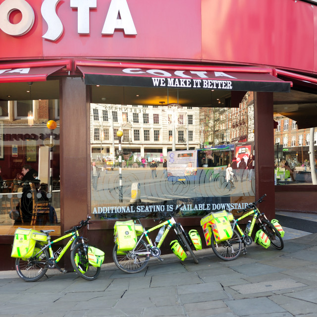 """St John's Ambulance Bikers ."" stock image"