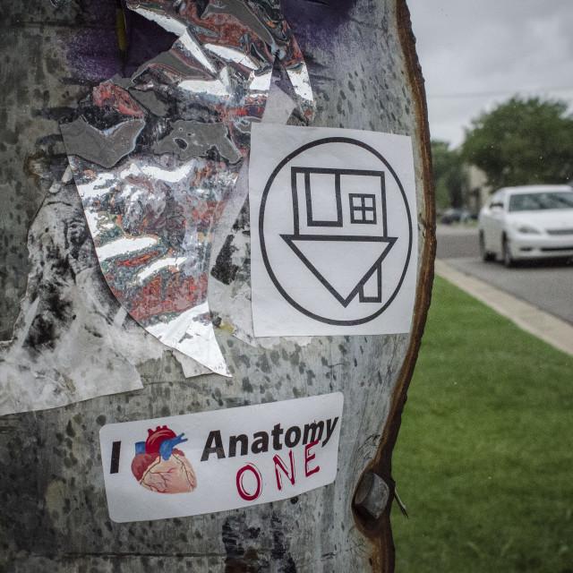 """""""Sticker Graffiti"""" stock image"""