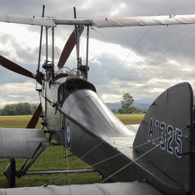 """B.E.2f biplane"" stock image"