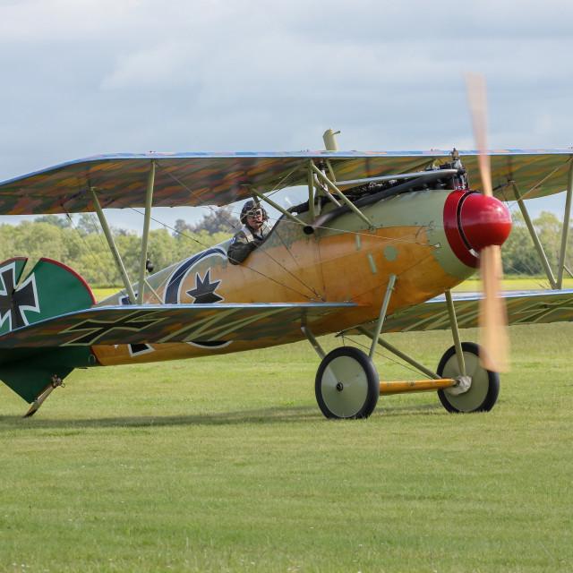"""German Albatros fighter biplane"" stock image"
