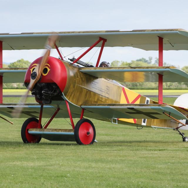 """Fokker Triplane"" stock image"