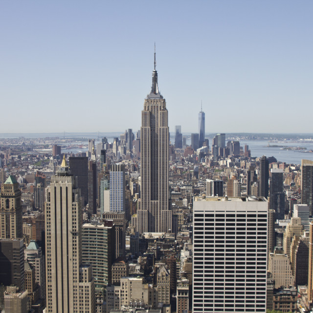 """""""View of Empire State Building"""" stock image"""