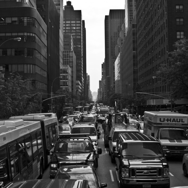 """New York Traffic"" stock image"