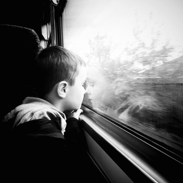 """Train Journey"" stock image"