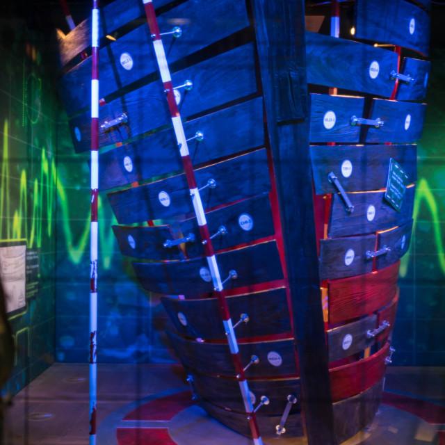 """Slave boat exhibit"" stock image"