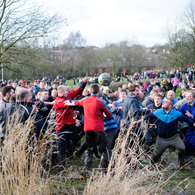 """Ashbourne Shrovetide Football ."" stock image"
