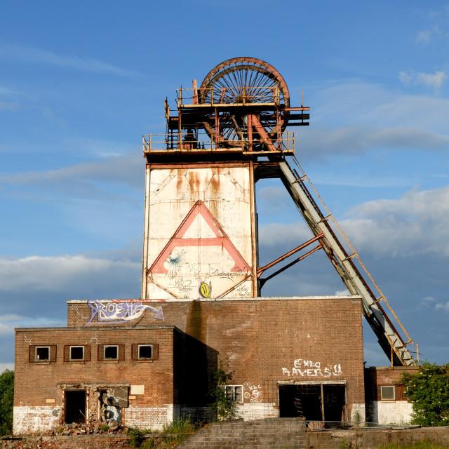 """Abandoned Colliery ."" stock image"