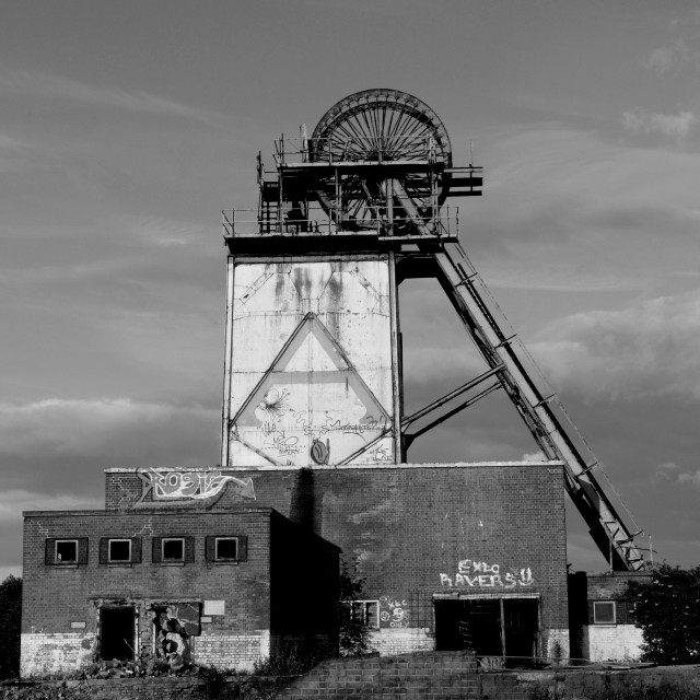 """Annesley Colliery ,Nottinghamshire."" stock image"