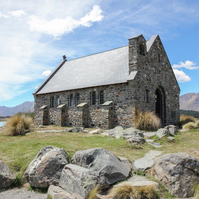 """Church of the Good Shepherd, N.Z."" stock image"