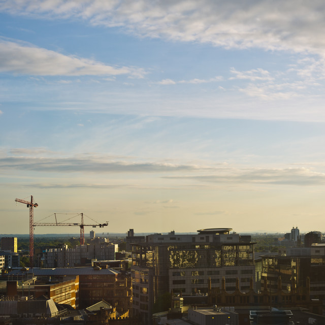 """Manchester's Golden Hour"" stock image"