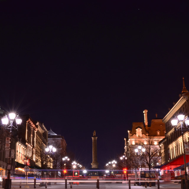 """""""St-Jacques Square, old Port. Montreal, Canada"""" stock image"""