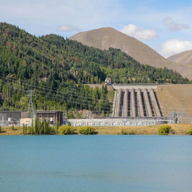 """Benmore hydro dam, N.Z."" stock image"